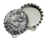 Antique Silver Bottle Cap Pendants-Standard