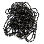 20 Inch Black Ball Chain Necklace