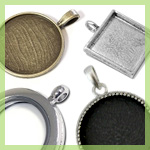 Bezel Pendants & Lockets