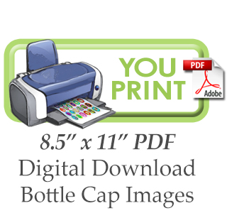 Bottle Cap Images -You Print
