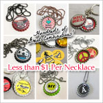 Bottle Cap Necklace Fundraiser Package
