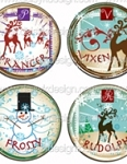 Bottle Cap Images - Jumbo Santa Baby