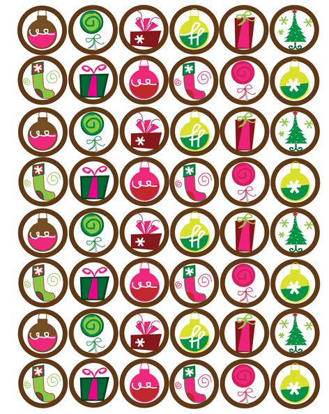 Funky Christmas Bottle Cap Images Digital Download At