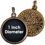 1 Inch Hammered Copper Bezel Set Pendant