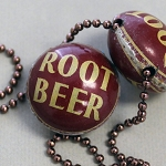Root Beer Horizontal Drill Bottle Cap Bead