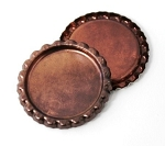 Two Sided Copper Patina Bottle Caps Flattened