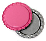 Hot Pink Bottle Caps Flattened
