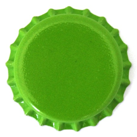 Lime green bottle caps at bottle cap co for Pictures of bottle caps