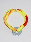Nylon Bracelet - Tie Dye - Yellow/Red