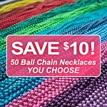 50 Ball Chain Necklace Discount Package