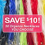 50 Organza Necklace Discount Package