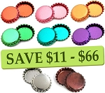 Metallic -8 Color Two Sided Bottle Cap Combo Pack