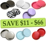 8 Color Two Sided Bottle Cap Combo Pack