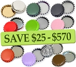 10 Color Bottle Cap Combo Pack