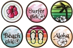 Epoxy Sticker, Surfer Girl