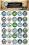 Soccer Star Bottle Cap Images - Printed