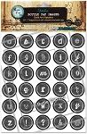 Chalk Board Alphabet Bottle Cap Images - Printed