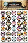 Kid's Halloween Bottle Cap Images - Printed