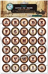 Vintage Circus Alphabet Bottle Cap Images - Printed