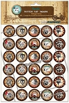 Vintage Circus Bottle Cap Images - Printed