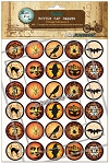 Vintage Halloween 2 Bottle Cap Images - Printed