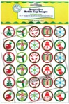 Christmas Icons Bottle Cap Images - Printed