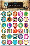 Funky Alphabet 1 Bottle Cap Images - Printed