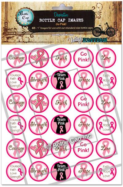 Go Pink Bottle Cap Images At Bottle Cap Co