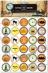 Halloween Bottle Cap Images - Printed