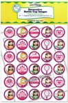 Princess Accessories Bottle Cap Images - Printed