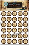 Vintage Crown Alphabet Bottle Cap Images - Printed