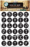 Typewriter Alphabet Bottle Cap Images - Printed