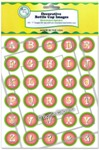 Watermelon Alphabet Bottle Cap Images - Printed