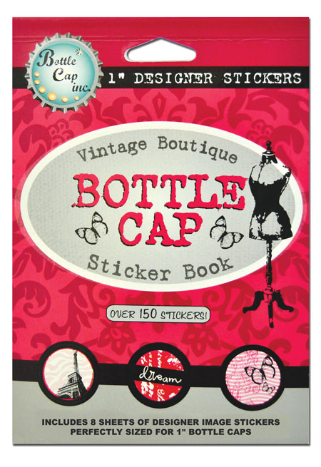 Vintage Boutique Pink Bottle Cap Sticker Book At Bottle Cap Co