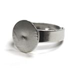 Ring Base Silver Plated Adjustable