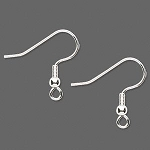 Plated Fishook Earring - Silver