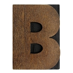 B, Large Letter Press Blocks