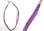 Organza Ribbon Necklace-Purple