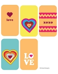 Dog Tag Design Digital Download -Funky Hearts