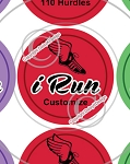 i Run-1 Inch Editable Bottle Cap Images