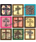 Alphabet Tile Images -Crosses