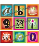 Alphabet Tile Images -Funky Alphabet