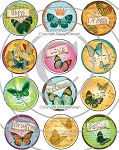 Bottle Cap Images-Butterfly Whimsy