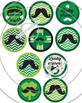 Bottle Cap Images -Charming Mustache