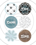 Bottle Cap Images - Damask
