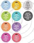 Bottle Cap Images -Keep Calm & Craft On