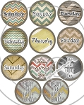 Bottle Cap Images -Rustic Chevron Day By Day