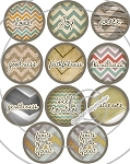 Bottle Cap Images -Rustic Chevron Fruits of the Spirit