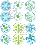 Bottle Cap Images - Snowflakes