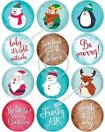 Bottle Cap Images -Christmas Characters and Sayings